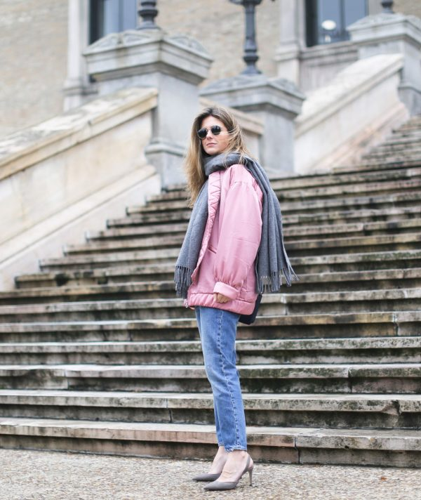 clochet_streetstyle_mango_pink_bomber_jacket_acne_studios_canada_scarf